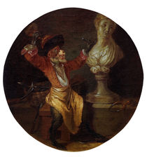 A.Watteau (Nachfolge), Affe als Bildhauer by AKG  Images