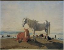 W. v. Kobell, Pferde am Starnberger See by AKG  Images