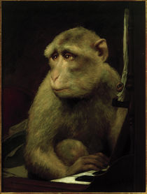 Little Monkey at the Piano / G. von Max / Painting, after 1900 by AKG  Images