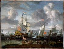 A.Storck, Eine engl. Yacht salutiert holländ. Kriegsschiff von AKG  Images
