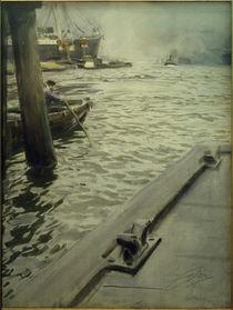 A.Zorn, Im Hamburger Hafen by AKG  Images