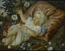 Adolf Senff, Kind unter Blumen/ 1859 von AKG  Images