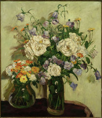 Two Flower Bouquets / P. Franck / Painting 1932 by AKG  Images