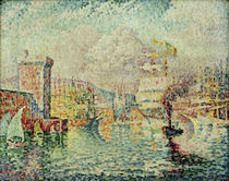 P.Signac, Port of Marseille / Paint./ 1913 by AKG  Images