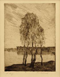 Lesser Ury, Drei Birken am märkischen See by AKG  Images