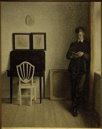 V. Hammershöi, Interieur mit lesendem jungen Mann von AKG  Images