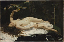 G.Courbet, Frau mit Papagei by AKG  Images