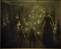 Happy Christmas / V. Johansen / Painting, 1891 by AKG  Images
