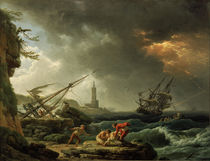 Claude-Joseph Vernet / Storm on the Sea by AKG  Images