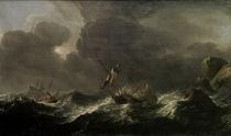 A.Smit, Schiffe in Seenot vor fels. Küste von AKG  Images