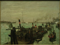 Hamburg Harbour / U.Hübner / Painting, 1909 by AKG  Images