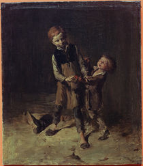 Shoemaker's Boys Fighting / W. Busch / Painting c.1875 by AKG  Images