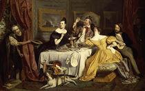 Josef Danhauser, Der reiche Prasser/1836 von AKG  Images