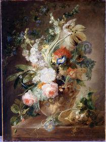 Jan van Huysum (Nachahmer), Blumenstrauss in einer Vase von AKG  Images