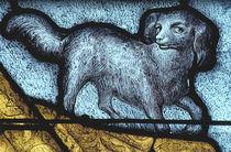 La Ferté-Bernard, Hund / Glasmalerei 15. Jh von AKG  Images