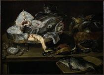 A. v. Adriaenssen, Stilleben mit Fischen.. von AKG  Images