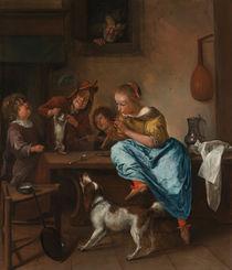 J.Steen, Kinder bringen einer Katze das Tanzen bei by AKG  Images