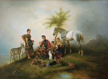 W.A.Meyerheim, Fütterungszeit by AKG  Images