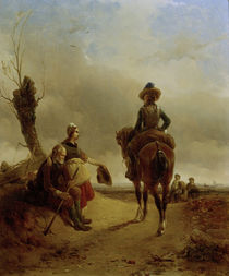 J.J.Moerenhout, Landscape with Rider by AKG  Images