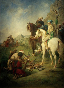 E.Fromentin, Falkenjagd in Algerien von AKG  Images