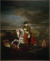 Napoleon I. , Reiterbildnis / Gemälde von H.u.F.Olivier by AKG  Images