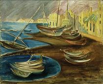 A. del Banco, Fischerboote im Hafen by AKG  Images