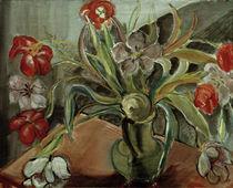 A. del Banco, Rote und weißem Tulpen von AKG  Images