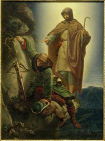 Schutzengel rettet Maximilian in der Martinswand / Rethel von AKG  Images