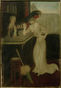 G.Bottini, Frau mit Sonnenschirm an der Bar von AKG  Images