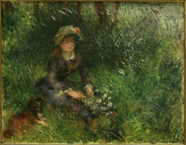 Renoir / Aline Charigot with dog / 1880 by AKG  Images