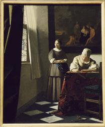 Vermeer, Briefschreiberin und Dienstmagd von AKG  Images