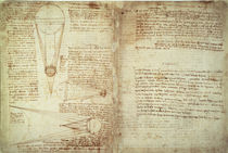Leonardo da Vinci, Pages from Cod. Hammer by AKG  Images