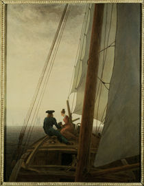 C.D.Friedrich, On the Sailing ship/1818 by AKG  Images