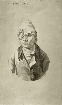 Friedrich / Self-portrait with cap /1802 by AKG  Images