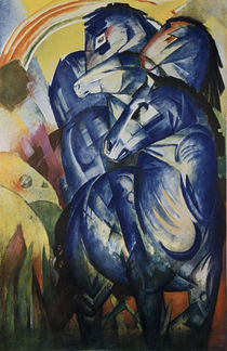 Franz Marc / The tower of blue horses by AKG  Images