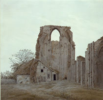 C.D.Friedrich, Abtei Eldena / Grafik 1836 von AKG  Images