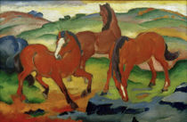 Franz Marc / Red Horses by AKG  Images