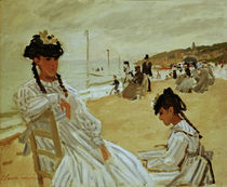 Claude Monet, Am Strand in Trouville von AKG  Images