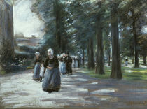 Liebermann / Going to Church in Laren by AKG  Images