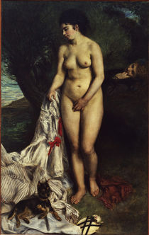 Renoir / Bather with a pinscher / 1870 by AKG  Images