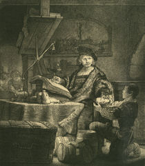 Rembrandt / The Gold Weigher / Etch./1639 by AKG  Images