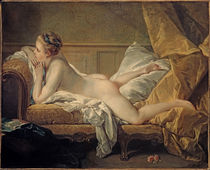 Fr. Boucher, Girl Resting / 1751 by AKG  Images