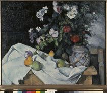 P.Cézanne, Stilleben mit Blumen u. Frücht von AKG  Images