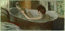 E.Degas, Frau, sich das Bein waschend