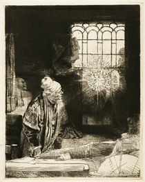 Rembrandt / Faust / Etching /  c. 1652 by AKG  Images