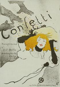 H.Toulouse-Lautrec, Confetti / Poster by AKG  Images