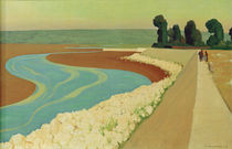 The Embankment of Honfleur / F.Vallotton / Painting 1915 by AKG  Images