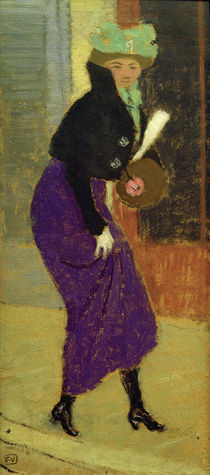 F.Vallotton, 'In a street: woman with muff' / painting by AKG  Images