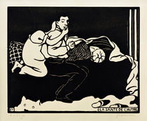 The Other's Health / F. Vallotton / Woodcut 1898 by AKG  Images