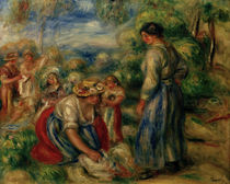 Renoir / The Laundry Women / Painting by AKG  Images